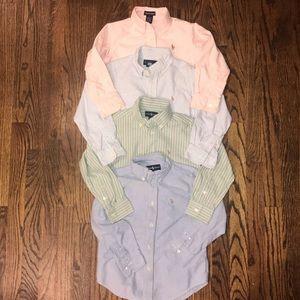 Ralph Lauren lot boys button down shirts size 5